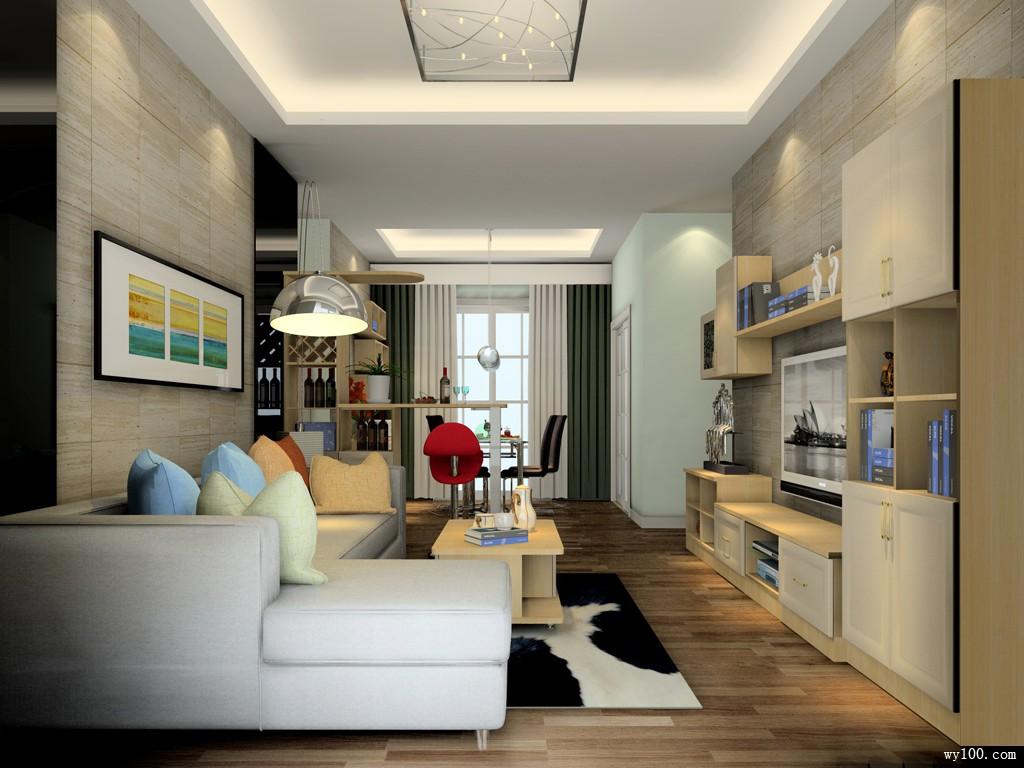 简约客餐厅效果图 41�O打造纯净舒适空间_维意定制家具商城