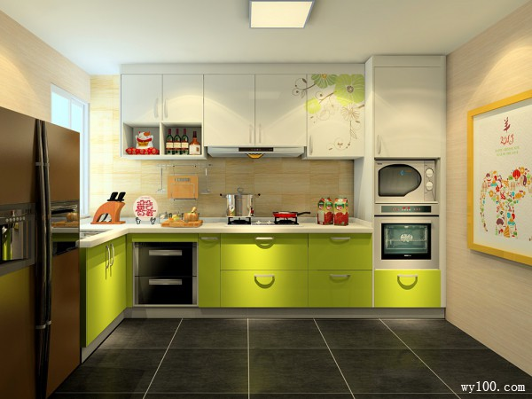 现代橱柜厨房装修效果图