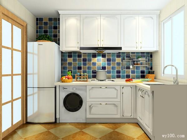 时尚L型厨房装修效果图