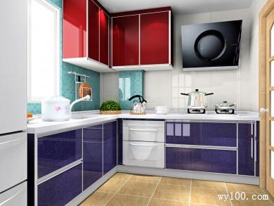 紫晶L型厨房效果图 title=