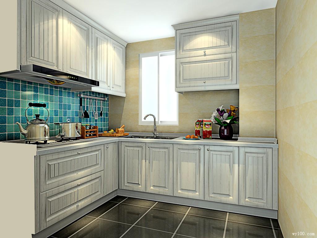 美式厨房设计 质朴乡村风_维意定制家具商城