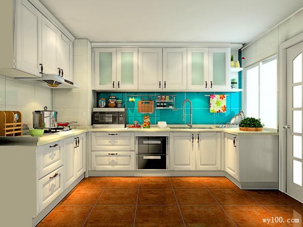 复古U型厨房装修效果图