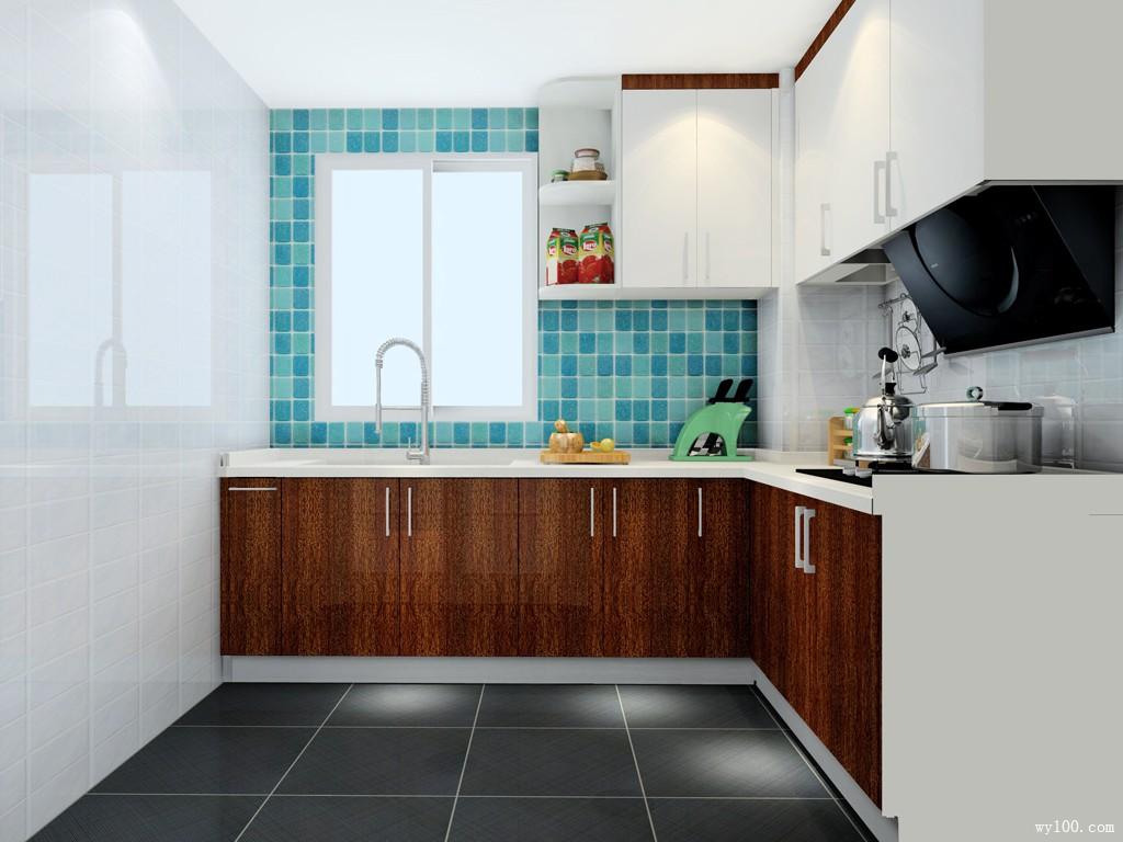 5平L型厨房 纯天然风_维意定制家具商城