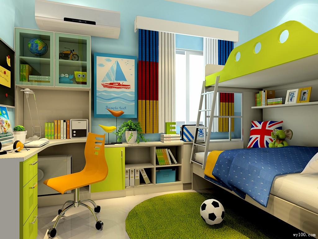 田园儿童房装修效果图