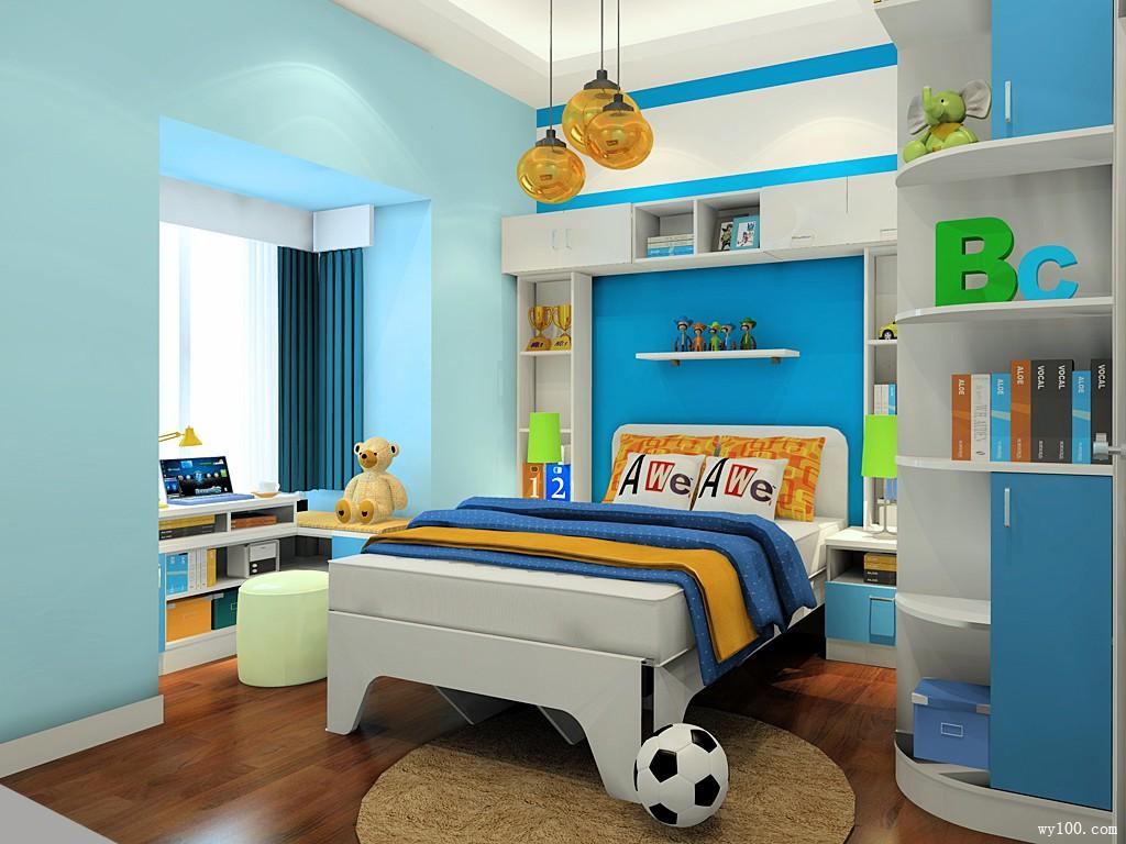 童趣儿童房效果图 8�O让童趣与灵气兼备_维意定制家具商城