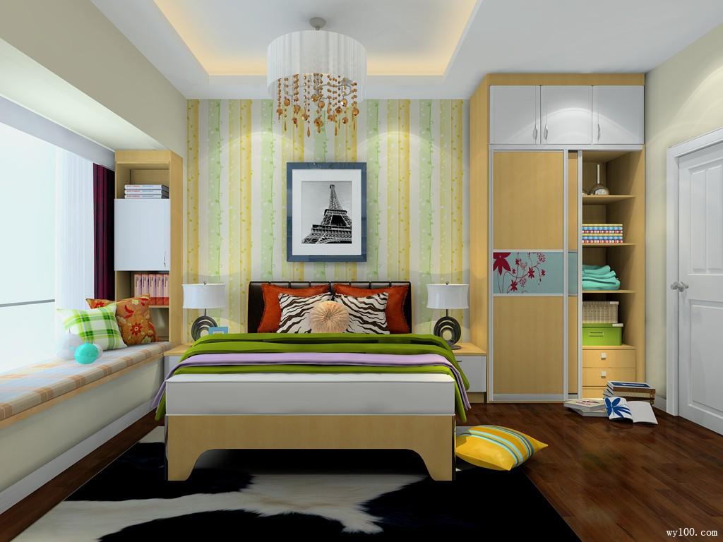 简约风卧室效果图 14�O寻找细节美_维意定制家具商城