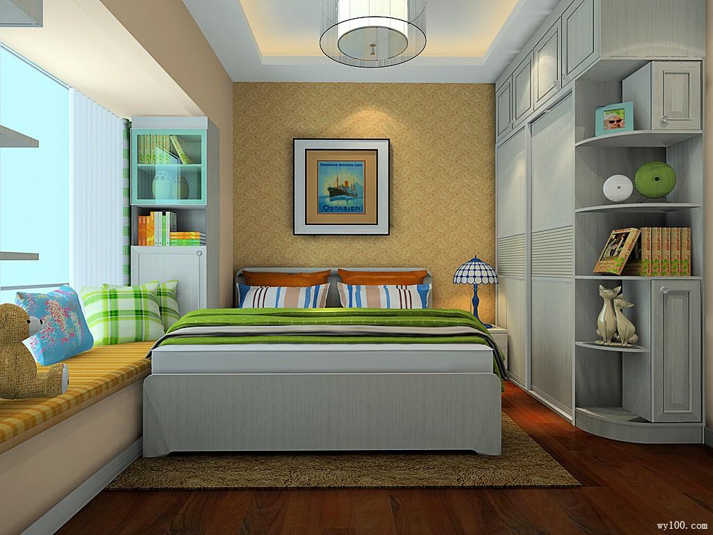 小户型卧室效果图 将田园风进行到底_维意定制家具商城