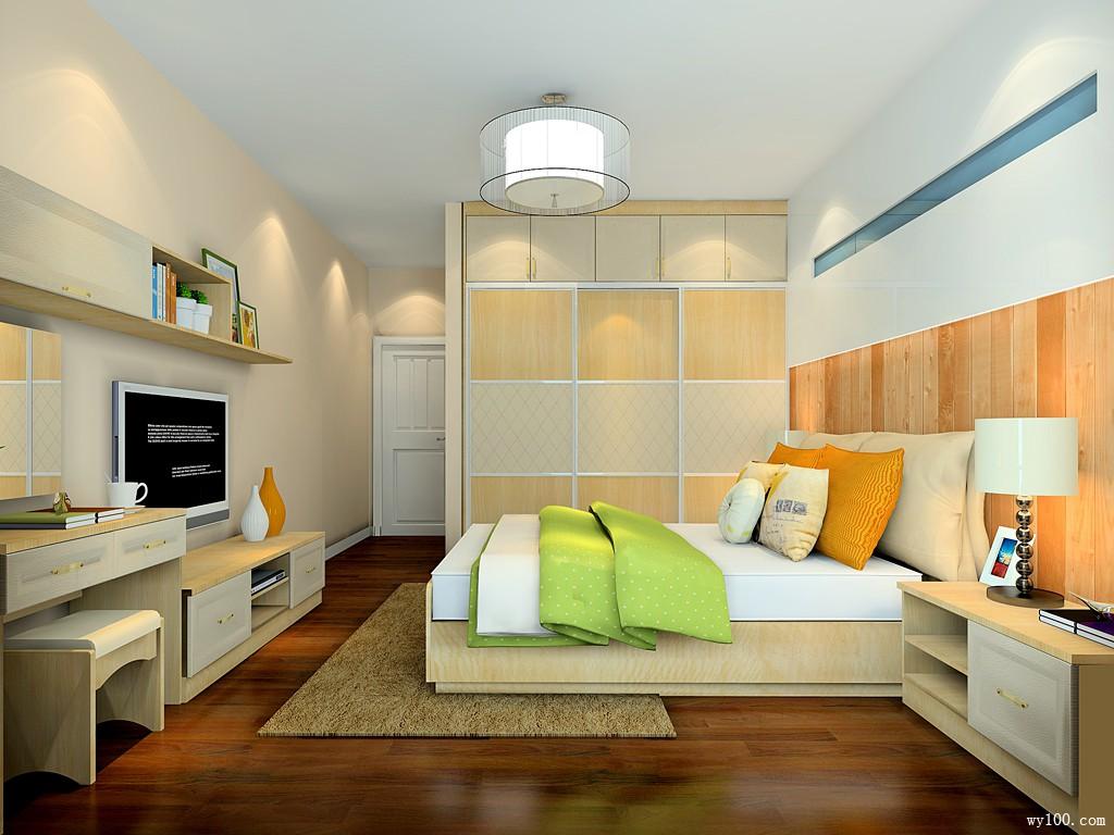 卧室装修效果图 21�O布置干净利落_维意定制家具商城