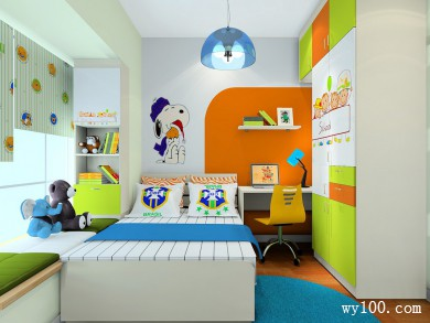 儿童房装修效果图 7�O整个空间充满童趣 title=