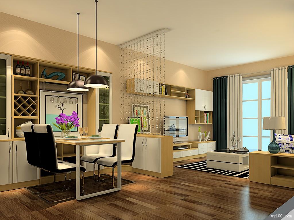 奢华客餐厅效果图 29�O榻榻米当做沙发用_维意定制家具商城