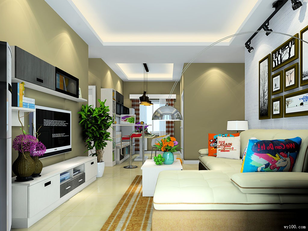 现代客餐厅效果图 55�O变身时尚大秀场_维意定制家具商城