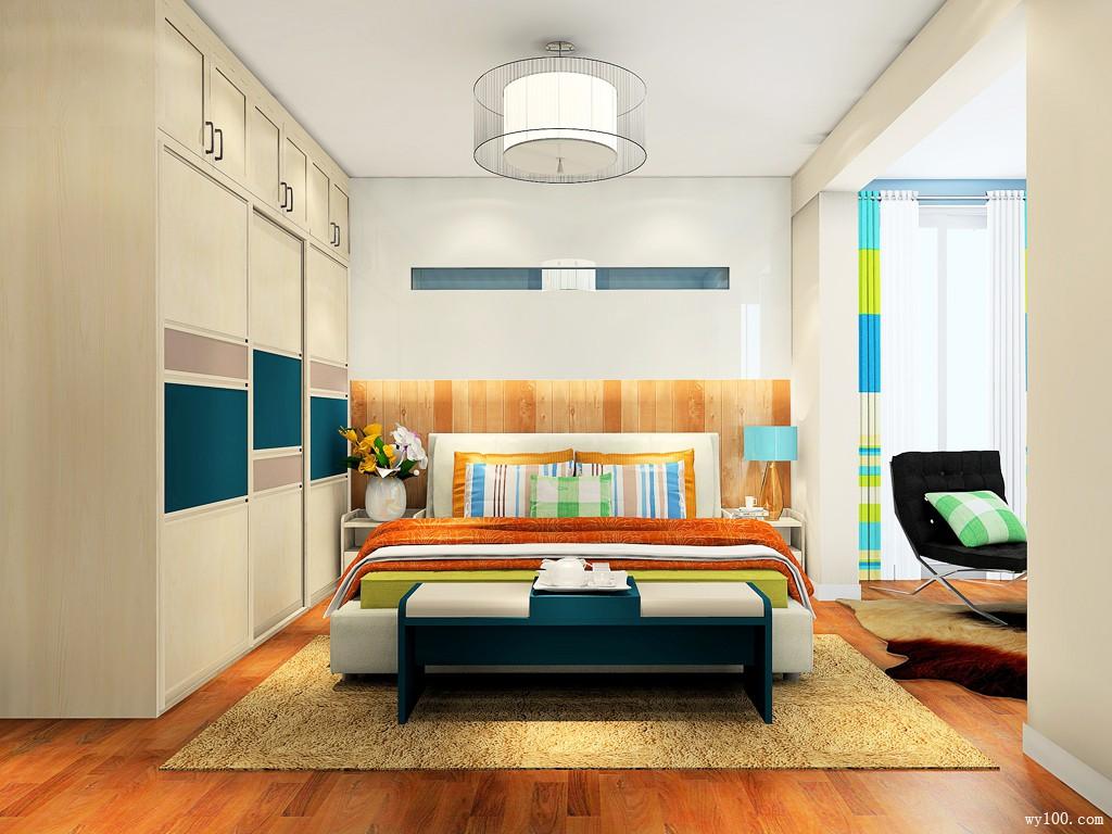 简约舒适卧室效果图 22�O尽享恬静_维意定制家具商城
