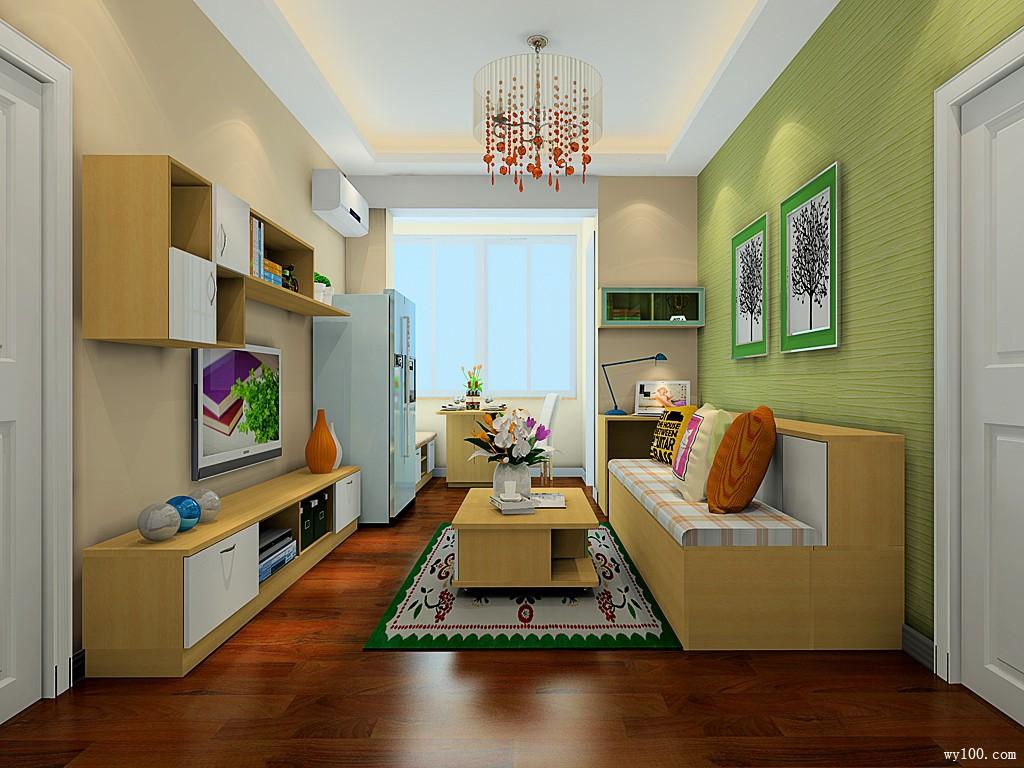 小户型客餐厅效果图 空间将就生活绝不将就_维意定制家具商城