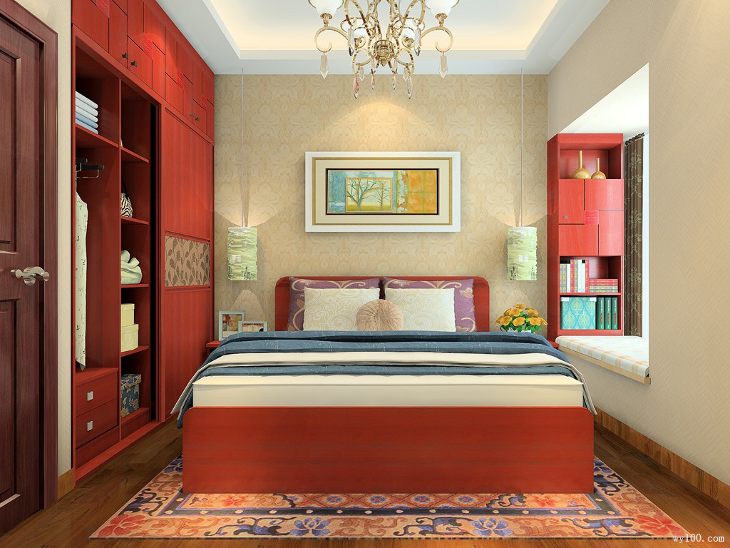 中式卧室效果图 11�O点燃古典文化之韵_维意定制家具商城