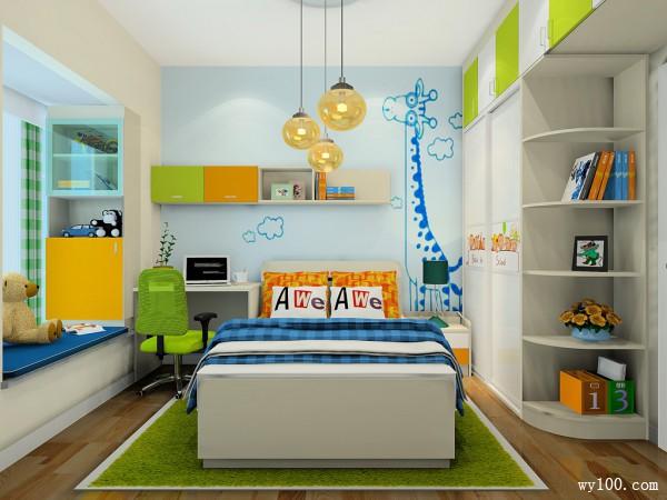 现代定制床儿童房装修效果图