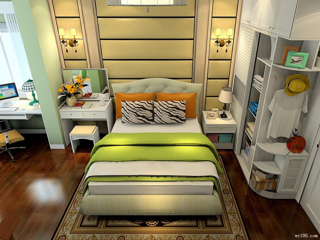 欧式卧室效果图 16�O使得空间透气明快_维意定制家具商城