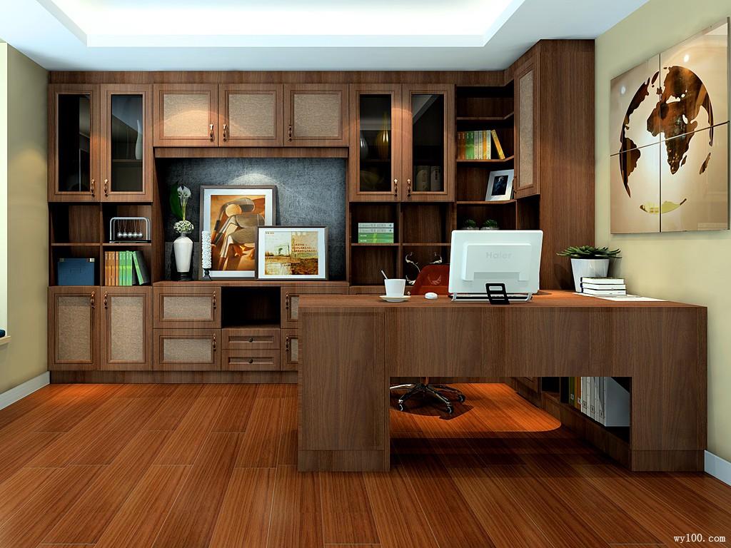 简约书房装修效果图 13�O给人舒适的感觉_维意定制家具商城