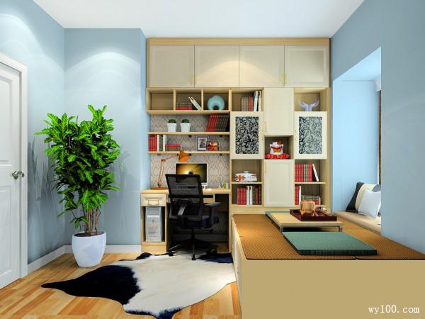 时尚多功能室书房装修效果图