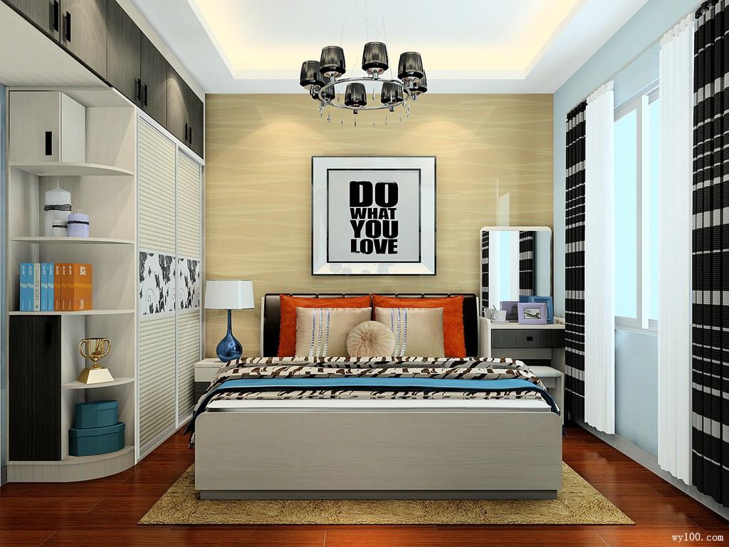 精英卧室装潢设计效果图 11�O白领的首选之地_维意定制家具商城
