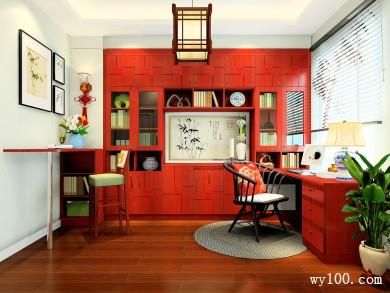 新中式书房装修设计效果图 9�O中国的美绝无仅有 title=