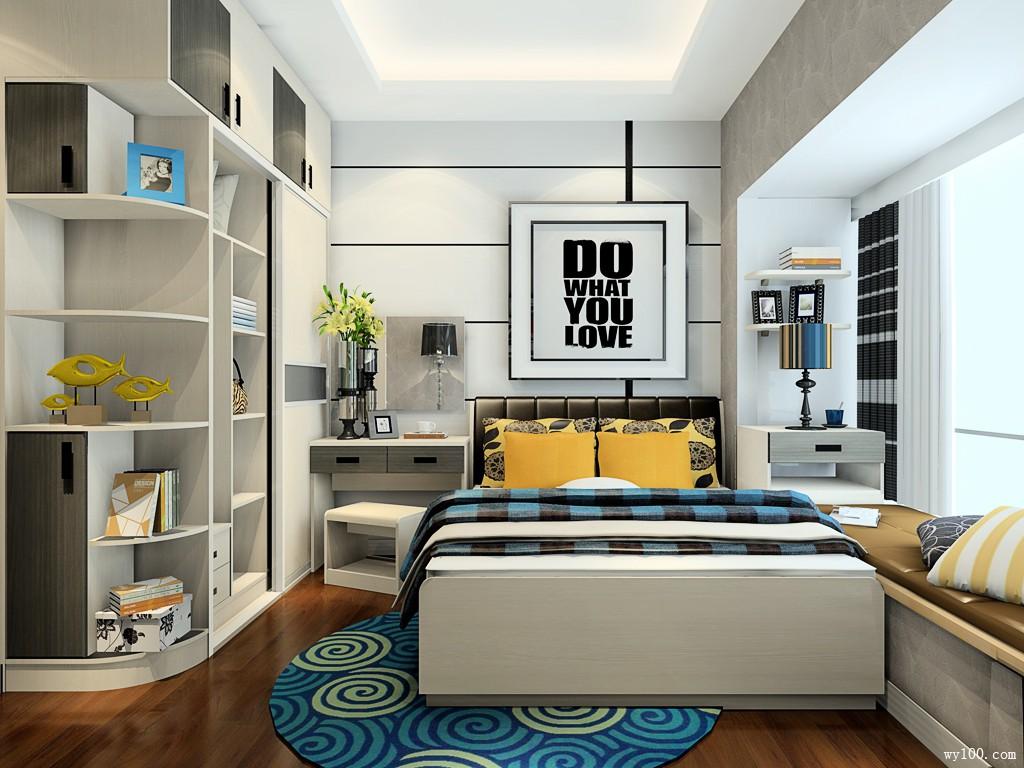 卧室装修设计效果图 9�O不浪费一寸空间的设计_维意定制家具商城