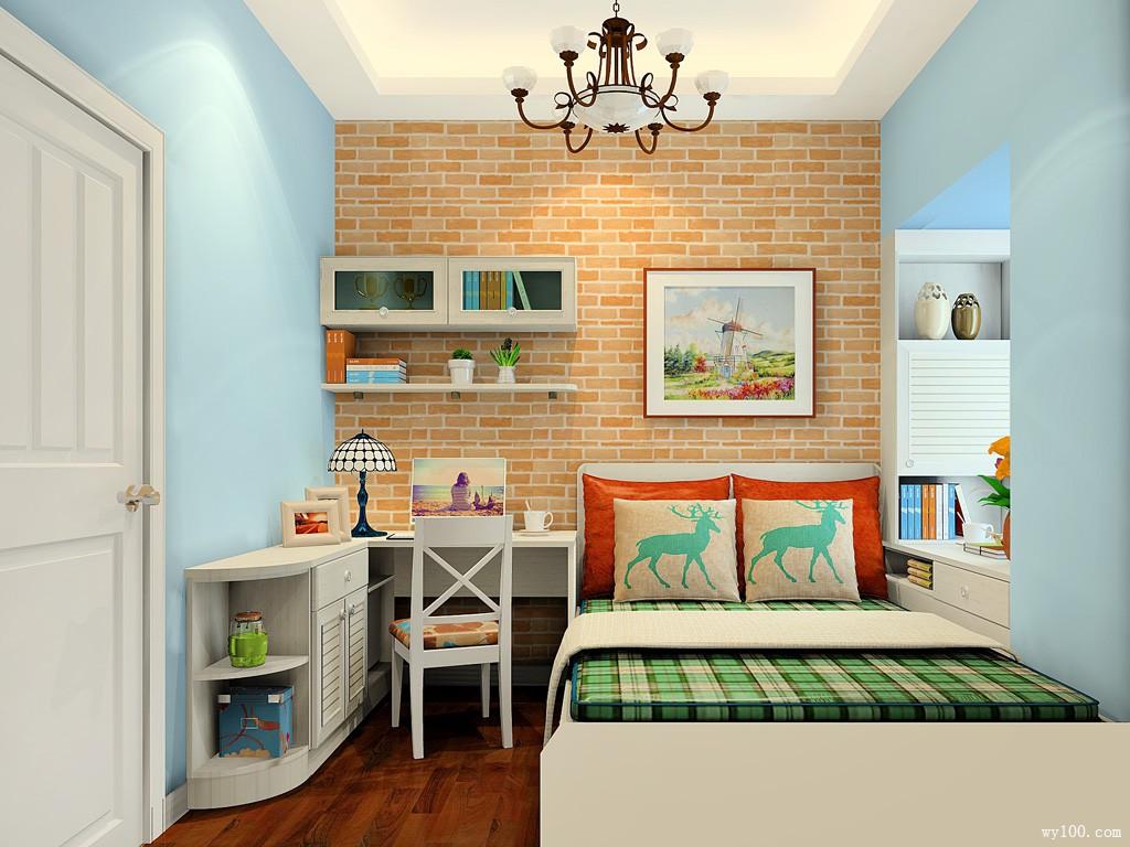 实用单人房效果图 7�O巧设计让小房也可放大衣柜_维意定制家具商城