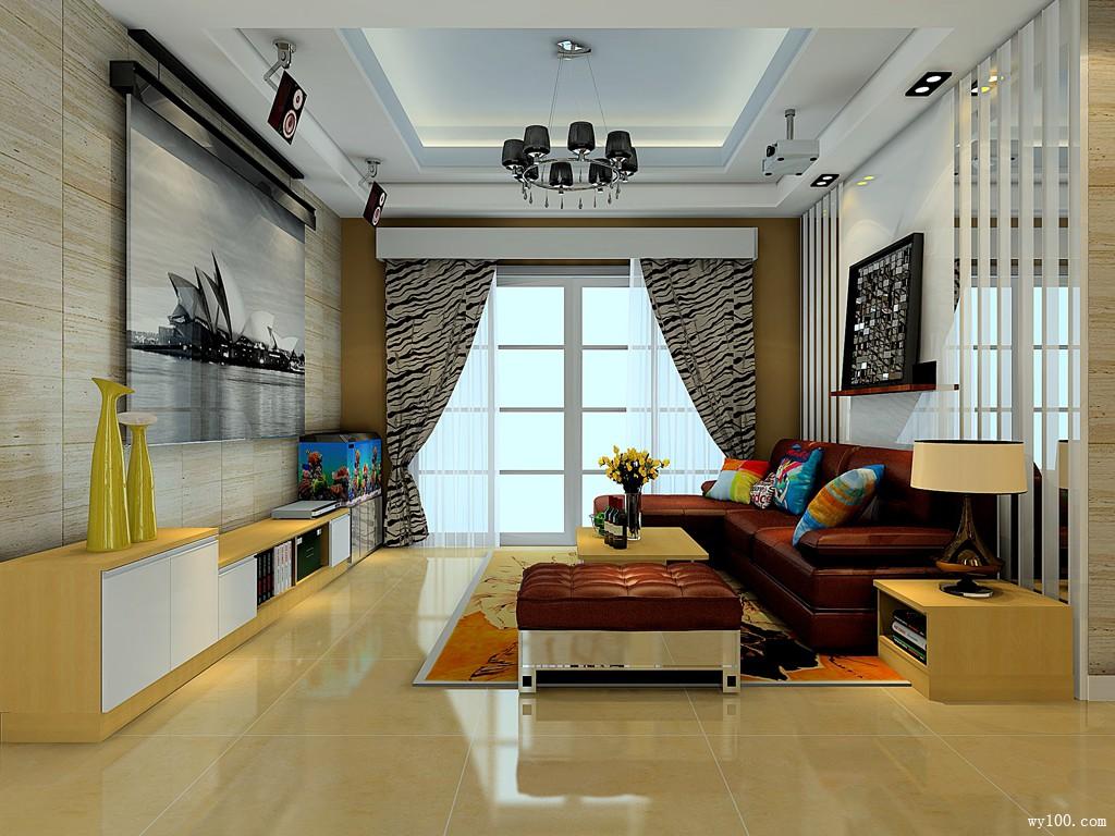 客厅隔断如何设计好 清爽现代小家告诉你_维意定制家具商城