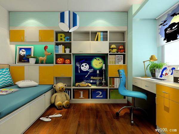 现代吊柜儿童房装修效果图