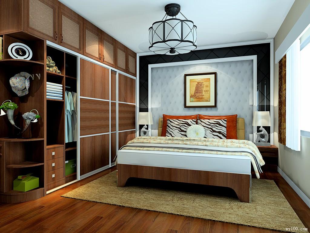 推拉柜卧室效果图 16�O简约、舒适、温馨_维意定制家具商城