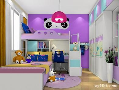 紫色儿童房效果图 9�O充满童趣 title=