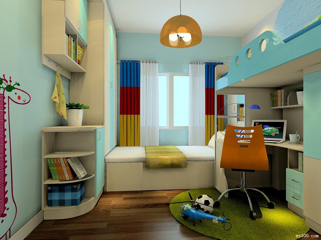 榻榻米床儿童房装修效果图_维意定制家具商城