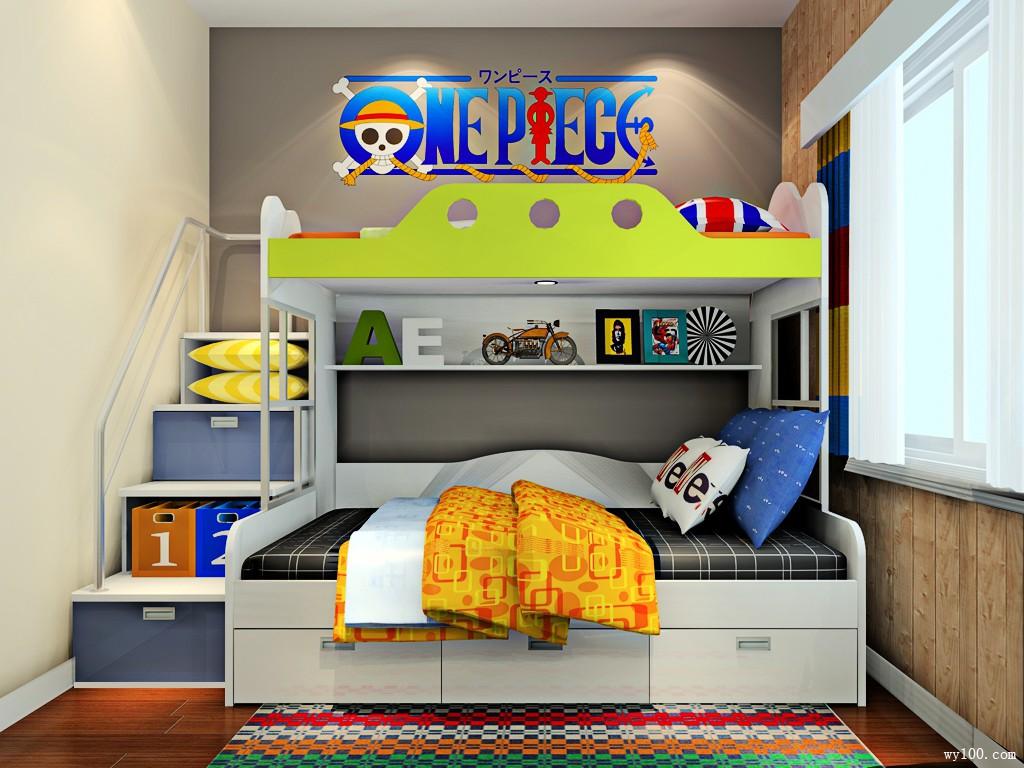 儿童房装修效果图 巧用高低床快乐成双_维意定制家具商城