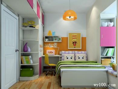 粉色儿童房装修效果图 6�O营造了活泼可爱的氛围 title=