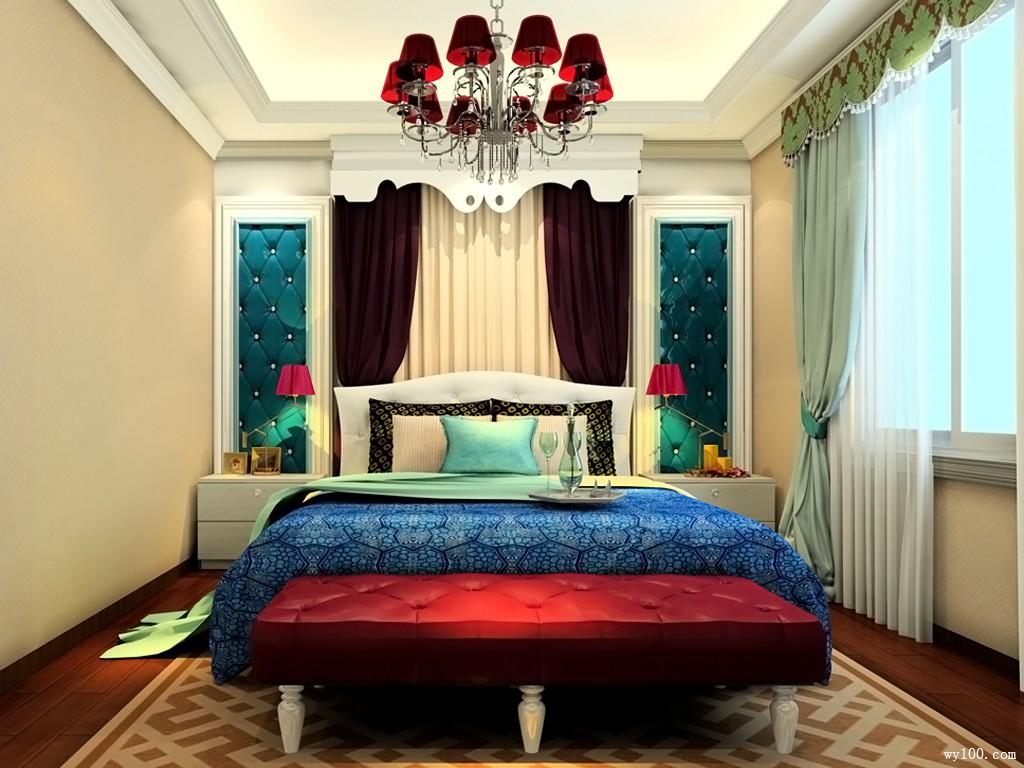 美式田园卧室 18�O唯美美梦由此开启_维意定制家具商城
