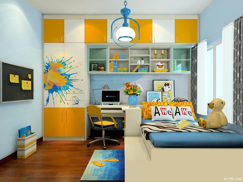 儿童房装修效果图 个性漂亮手墙壁主导_维意定制家具商城