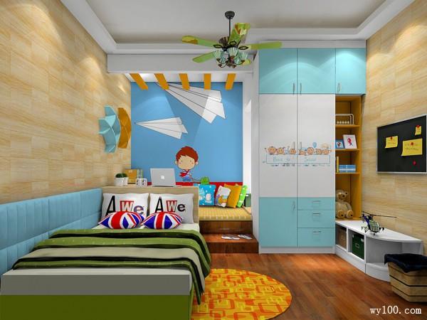 书桌儿童房装修效果图