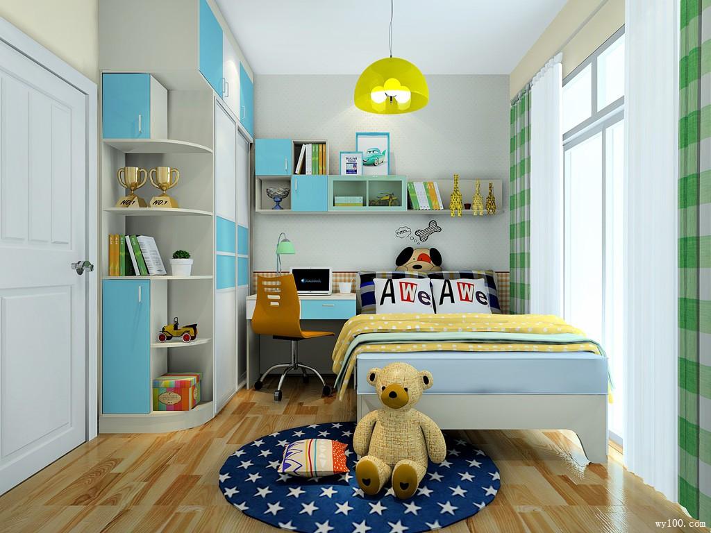 小户型儿童房设计效果图 7�O整体摆放整齐大方_维意定制家具商城