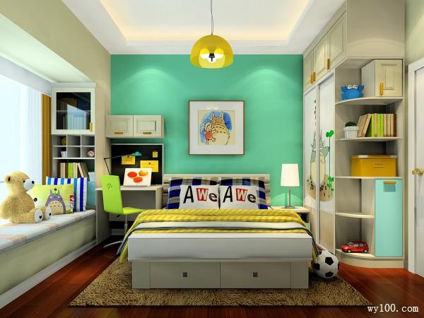 简约定制床儿童房装修效果图