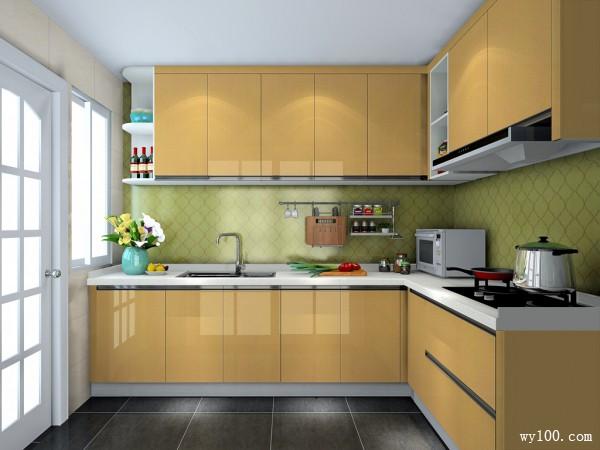 简约L型厨房装修效果图