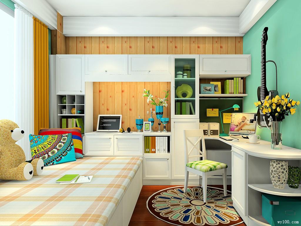 主卧室装修效果图 9�O小空间大利用_维意定制家具商城