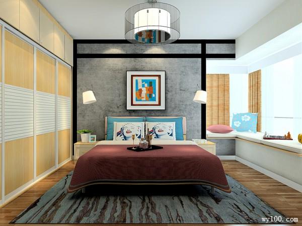 时尚飘窗卧室装修效果图