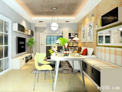 沙发和卡座拼接客餐厅 满足储物整体空间时尚大气 title=