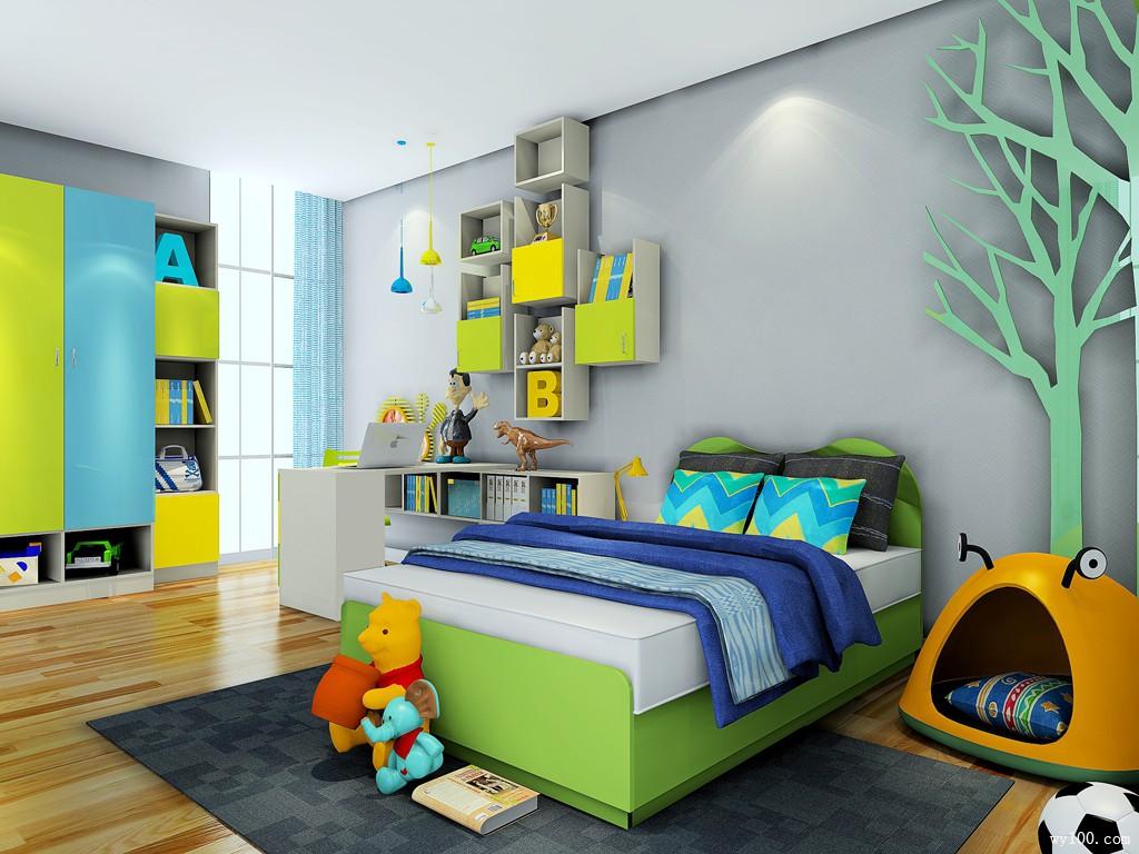 简约儿童房色彩搭配 打造学习与娱乐两不误的空间_维意定制家具商城