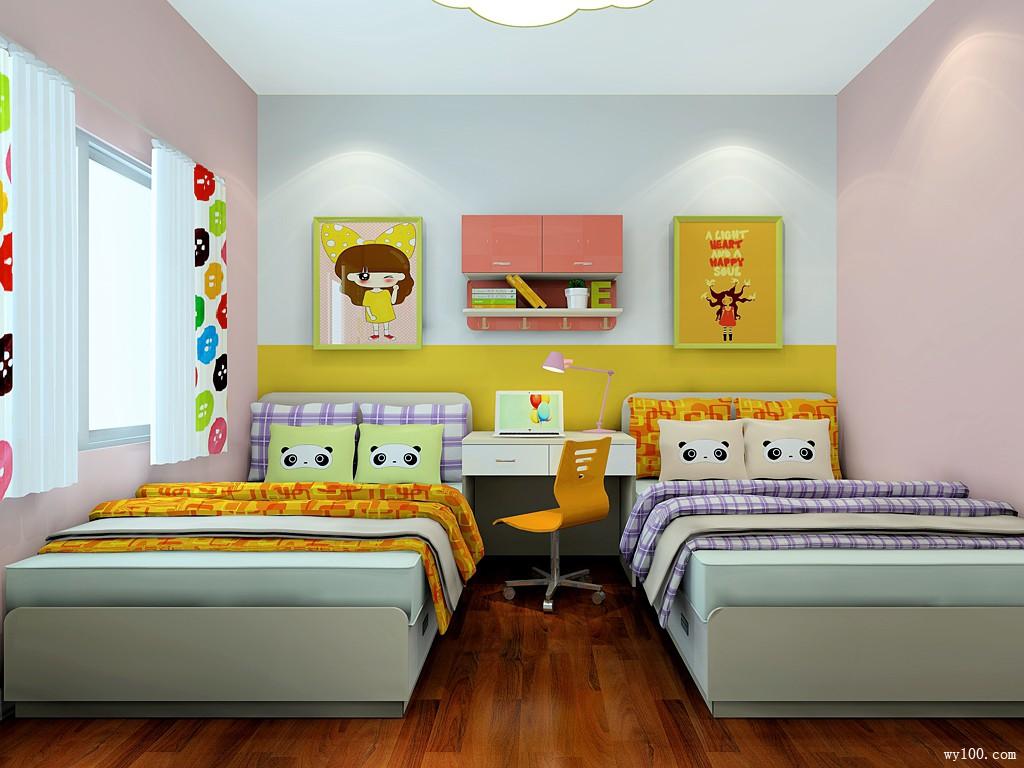 双人床儿童房 搭配童趣饰品更有公主范_维意定制家具商城