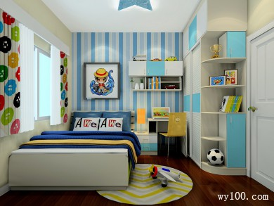 8�O可爱贴图儿童房设计效果图 title=
