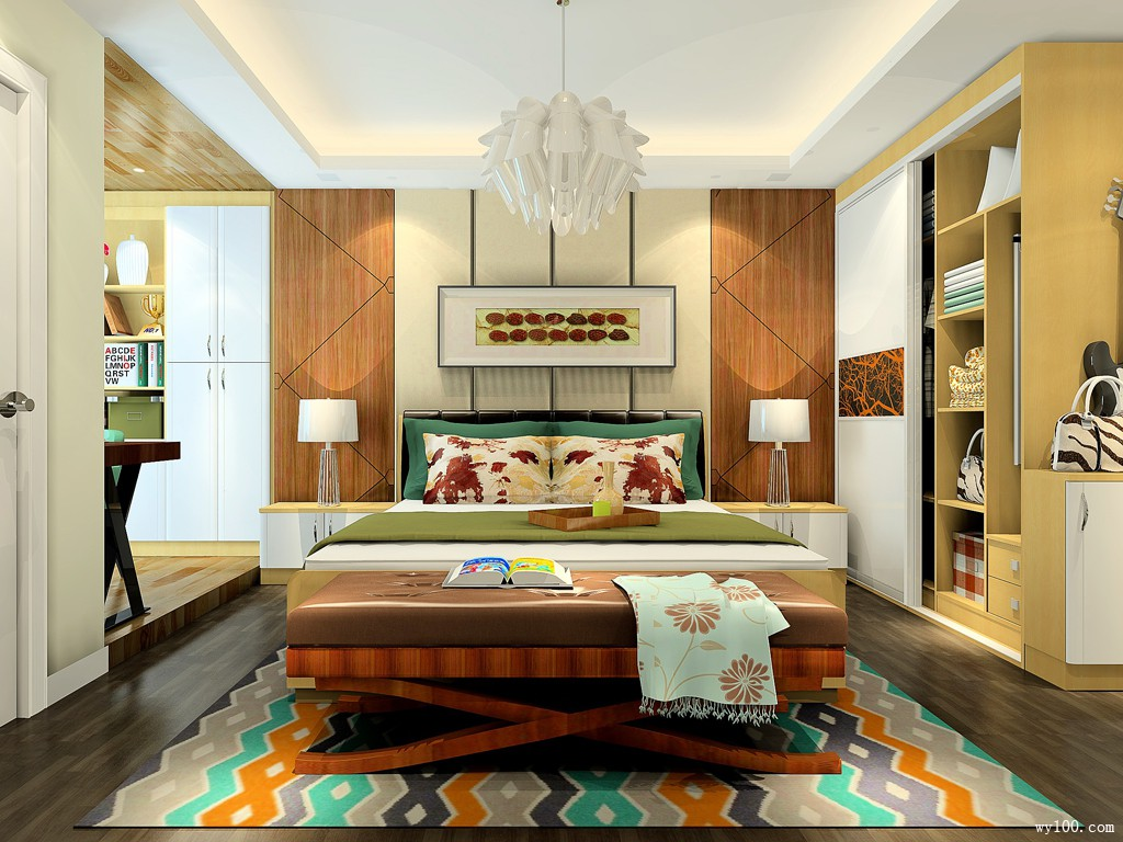 19�O巧用凹位处卧室设计效果图_维意定制家具商城