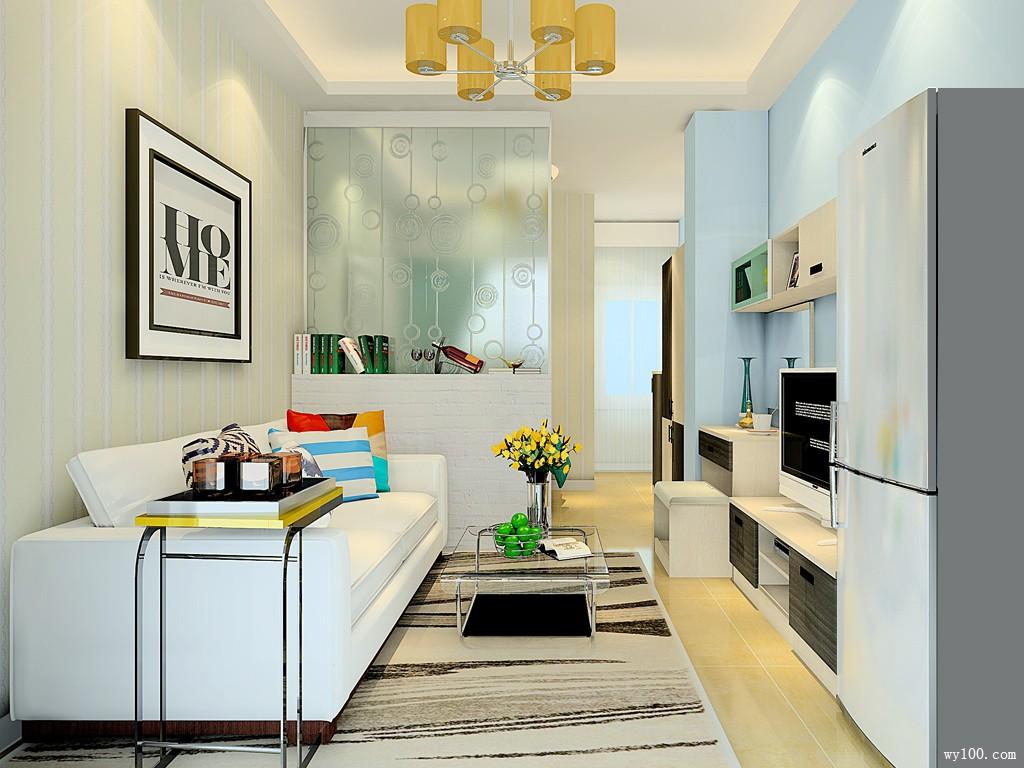 现代简约客餐厅 以浅色调为主增强实用性_维意定制家具商城
