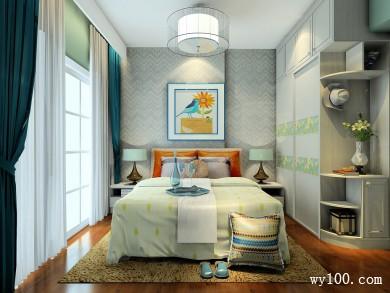 美式卧室 用靓丽的色彩打造出优雅含蓄空间 title=