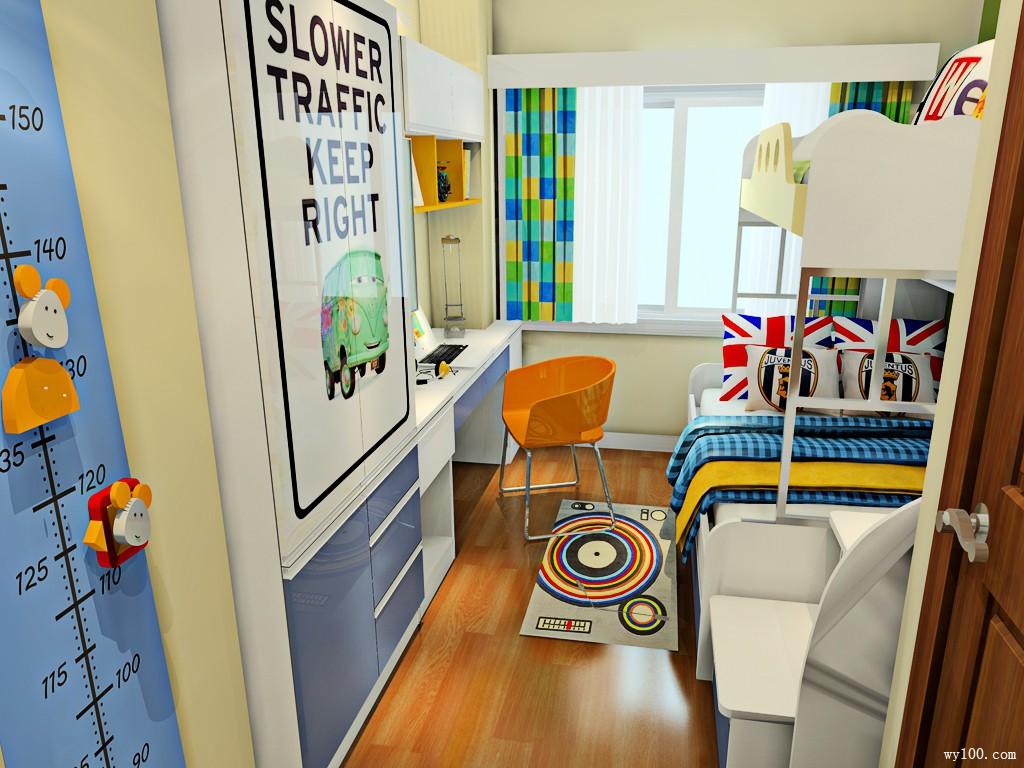儿童房上下床设计 超强收纳存储功能_维意定制家具商城