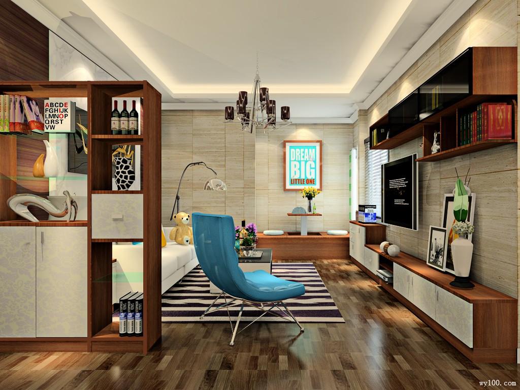客餐厅装修效果图 29�O整体空间利用率高_维意定制家具商城